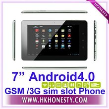 Google Tablet PC 3G GSM Sim Slot Android4.0 Dual Cameras
