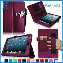 Unique FrontPocket Folio Leather Case W HandStrap Cover for iPad 432 iPad mini