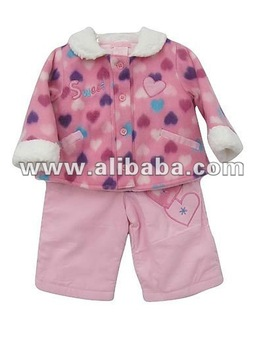 New pink baby clothing set 3 pieces