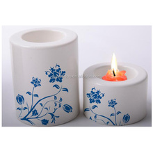Blank white sublimation big candle holder for DIY promotion gift
