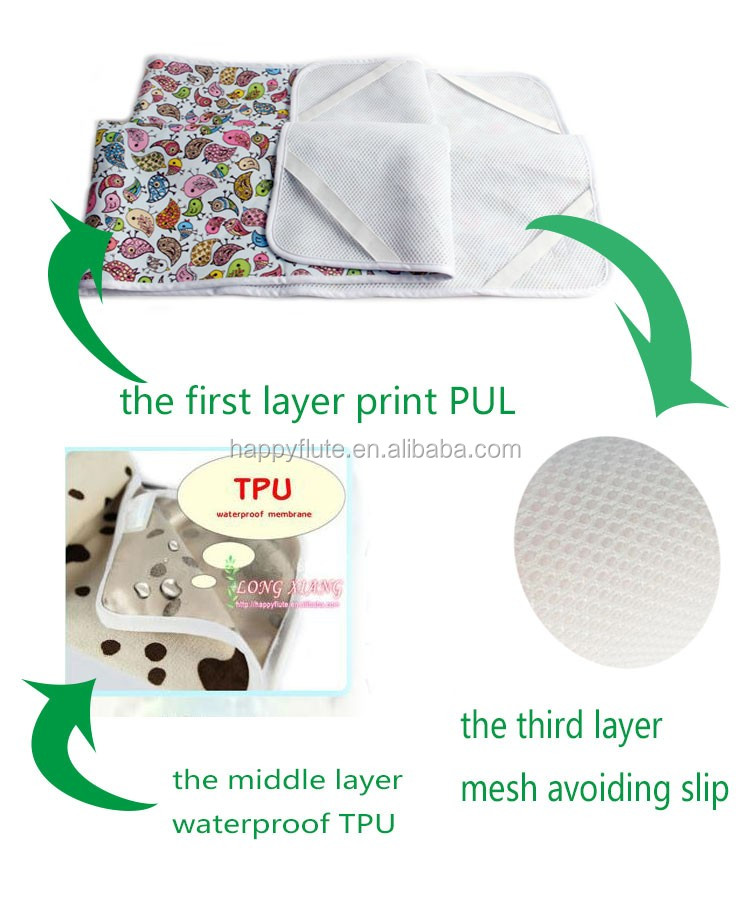 wholesale baby waterproof baby diaper changing mats urinal pads factory OEM