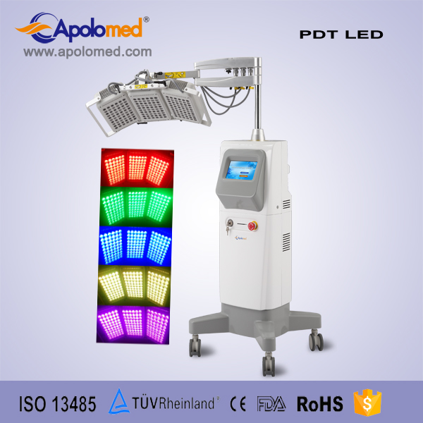 Professional led light beauty therapy for acne pigment removal