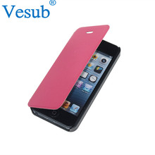Sublimation Leather /PU Wallet Mobile Phone Case for iPhone 5/6