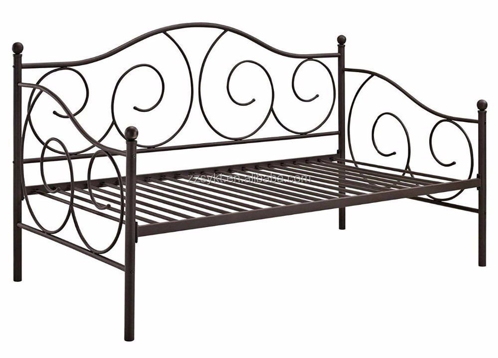 Utility metal guest day bed daybed frame with trundle wholesale