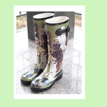 dog print rain boots rubber boots ladies funky wellies