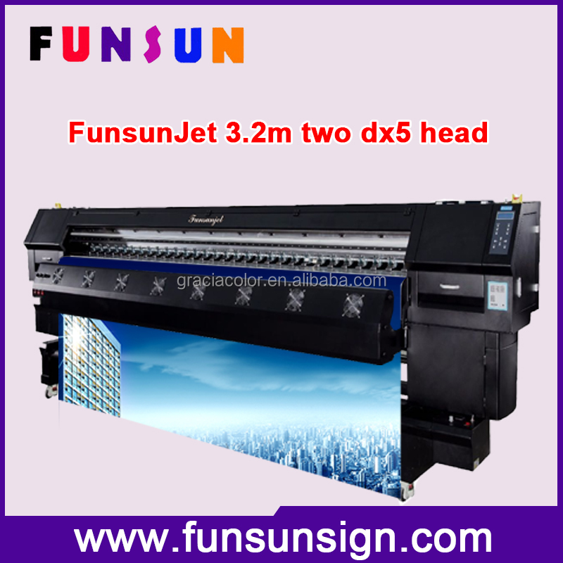 Heavy duty Funsunjet FS3202K 10ft wide format advertising printing machine