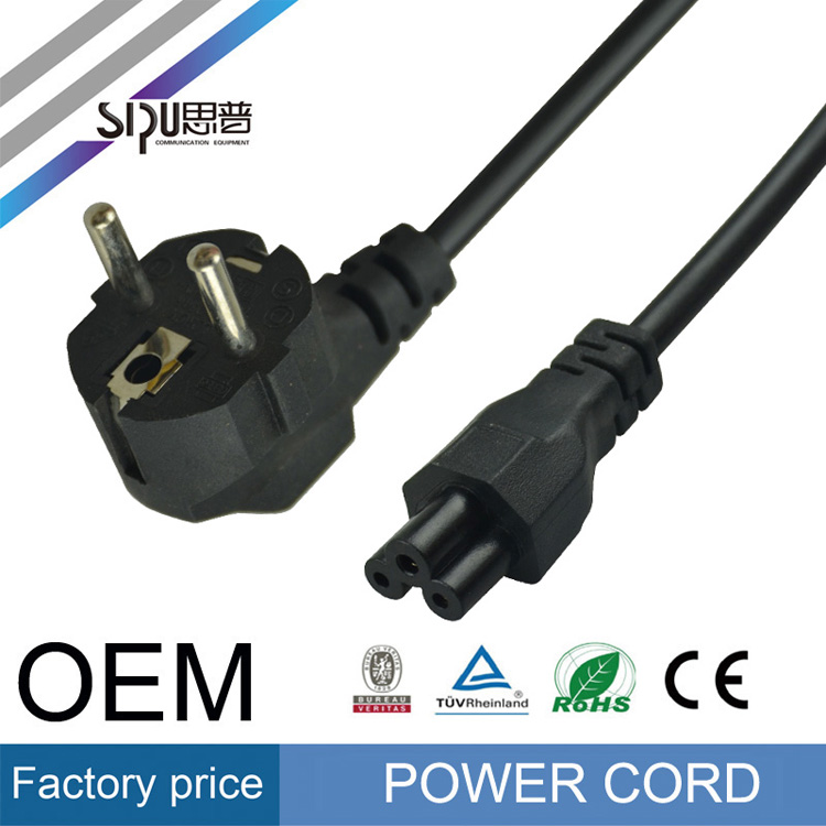 SIPU high quality Professional Manufacturer ac Cable Best Price from ac power cord Hot Exporting EU 3 pin cable