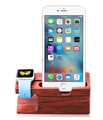 2016 Natural Bamboo Rosewood Smart Watch Charging Dock, Phone Stand, Charging for phone 4/4s/5/6,Phone Rosewood