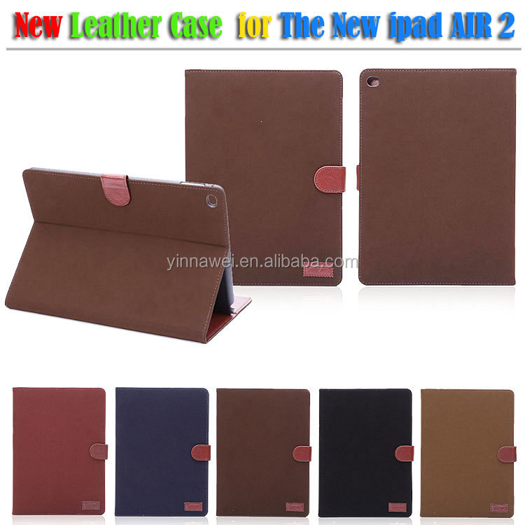 For iPad Case, vintage leather case for iPad 6 case