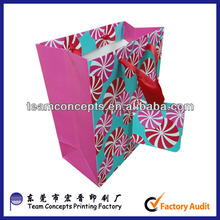 Decorative paper carry bags with handle