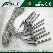 Stainless steel hose thread electric heating element Cartridge Heater with flange with best price