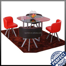2016 round glass dining table set room furniture modern dinning table set, tempered glass dining table