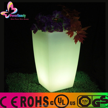 Hot sale colorful telcom flower pot large led illuminated vases