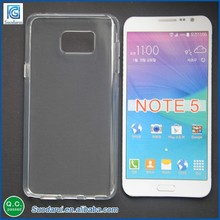 New mobile phone accessories high transparent case for samsung galaxy note 5 tpu soft gel cover case excellect stylish