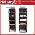 NAHAM Fabric clothes Organzier 5 Section Hanging Storage Bag