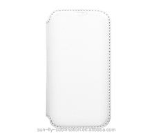 High quality Sublimation Leather Flip Cover / Sublimation Leather flip case / Sumblimation Leather cover for Samsung S4