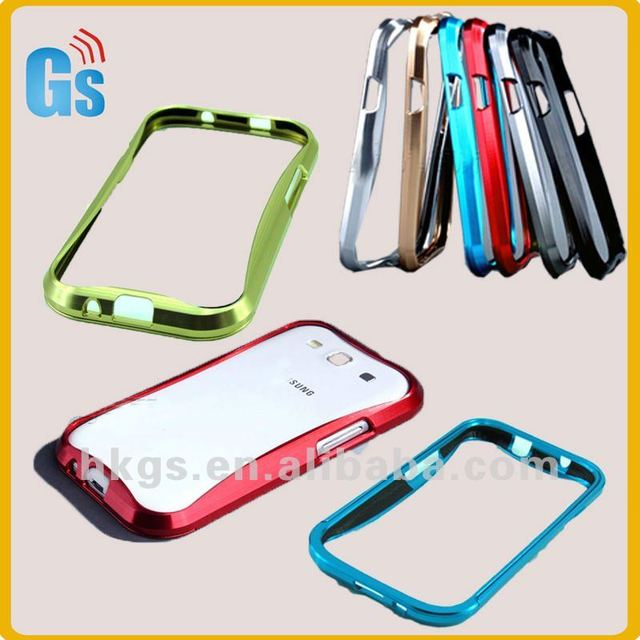 Aluminum metal bumper frame case cover for galaxy s3