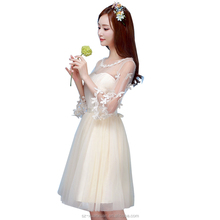 2016 wedding bridesmaid's gown white evening dress for lady