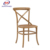 Rental wood stacking cross dining chair wedding cross back chair