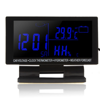 Four in one automotive electronic hygrometer thermometer car voltmeter automotive electronic clock