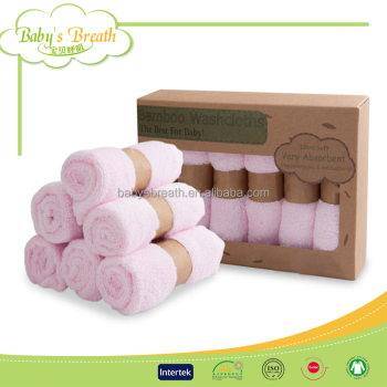 BCD048 Super Soft Bamboo Fiber Wash Cloth 25*25cm Baby Face Towel