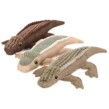 Hot Sale Pet Crocodile Durable Interactive Squeaky Plush Stuffed Dog Chew Toy