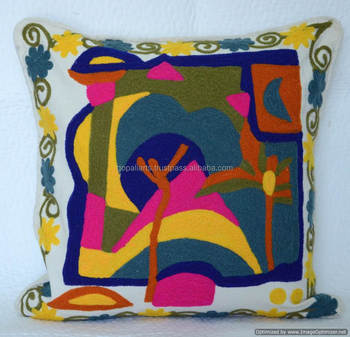 "Suzani Pillow Cover Embroidered Cushion Cover Decorative Throw Cushion Cover 18*18"" Inches"