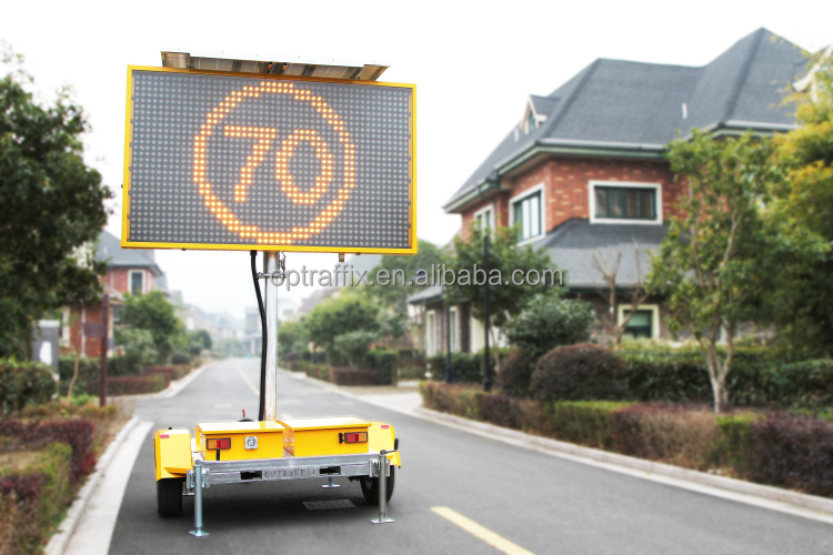 2015 Optraffic Outdoor Electronic Message Boards Movable Led Traffic Digital Screen Vms Solar Display Signs - Buy Solar Display Signs,Vms Display,Led ...