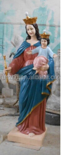 Resin virgin mary with child statue