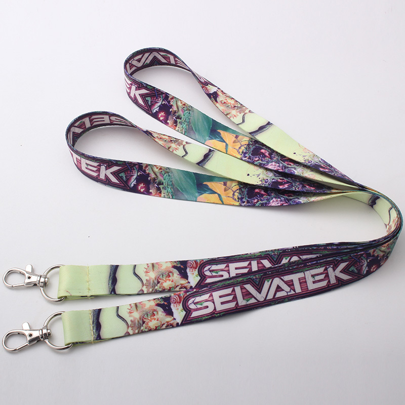 Personalized polyester plain lanyard with customized logo