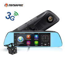 "Free shipping 7"" Special 3G smart car mirror dvr gps wifi Android 5.0 GPS Automobile DVRs Dash Cam mirror Video Recorder"