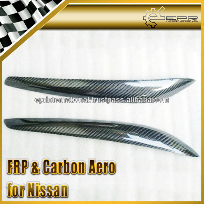 For Nissan Skyline R34 GTT GTR Carbon Fiber Headlight Eyebrow Eyelid