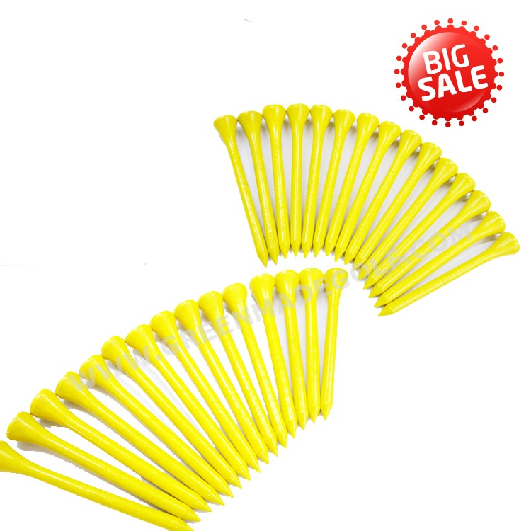 Personalized yellow color wooden golf tees wholesale tee golf