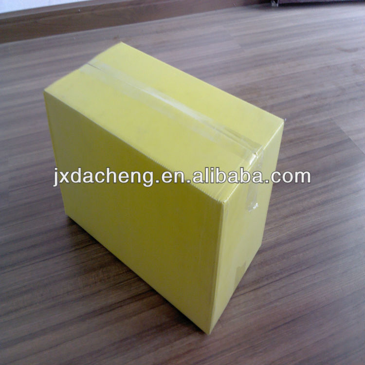Yellow PP Plastic Corrugated Box