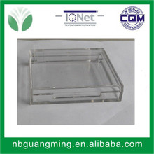 Small clear plastic boxes with lids