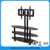 modern metal glass led light tv stand