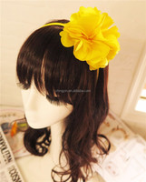 Fancy Baby Girl's Fashion Hair Accessories Yellow Flower Headband for Parties