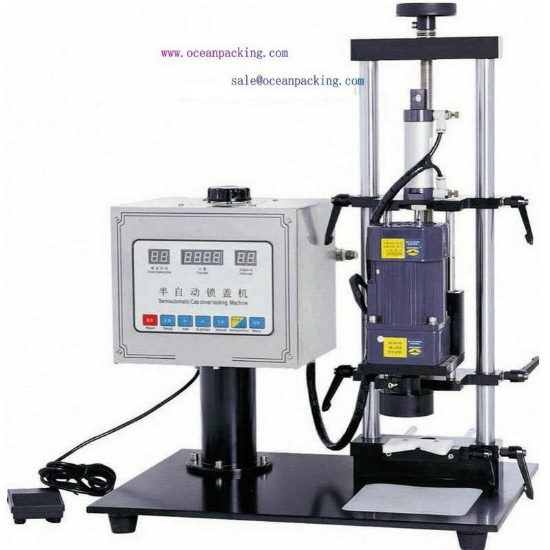 Low price latest automatic inline capping machine