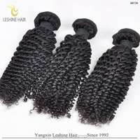 Top Grade Pure Yaki Human Virgin Remy Afro Hair Curly Weave