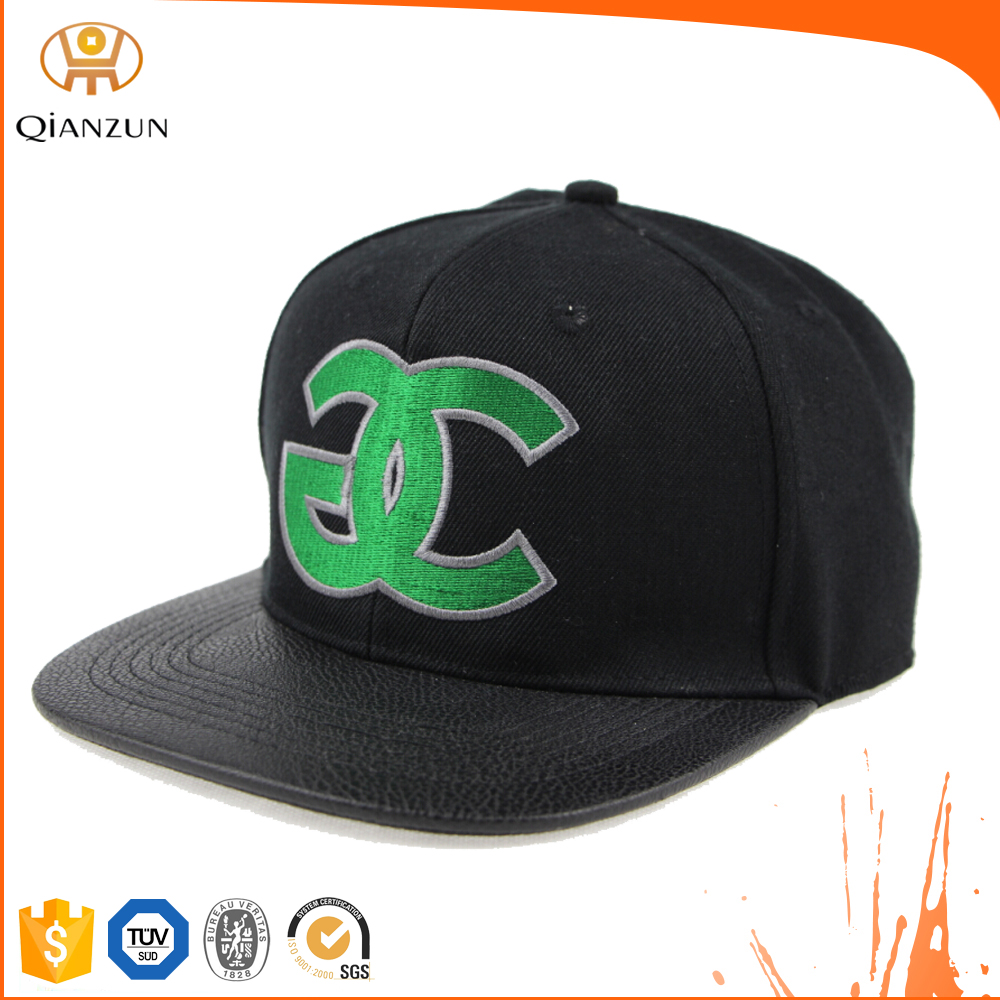 Custom Hat With Leather Strap, Hat Wholesale China