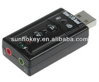 External 3D USB 2.0 Virtual 7.1 Channel Audio USB Sound Card Adapter