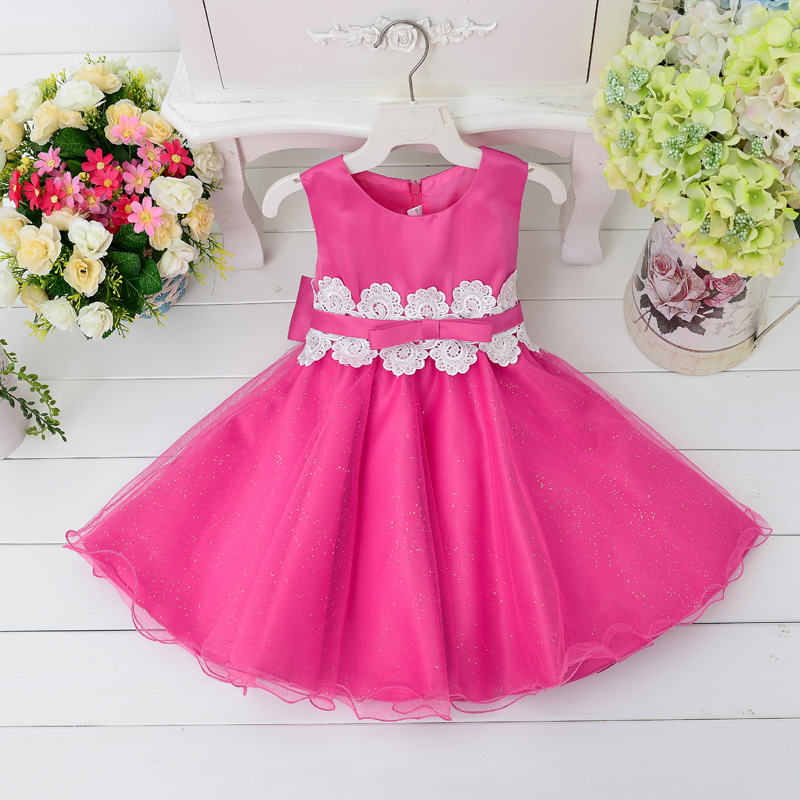 In Stock Boutique Clothes Children Smock Sleeveless Birthday Girl Pincess Wedding Party Dress L9002