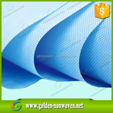 blue color 90gsm spun bond pp non-woven/nonwoven upholstery fabric for car set cover/non woven textile material for furniture