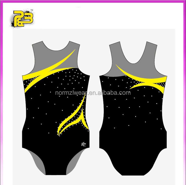 2017 New design gymnastics wear for girl training gymnastics leotards