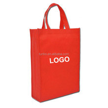 Custom logo promotional non-woven fabric shopping tote non woven bag