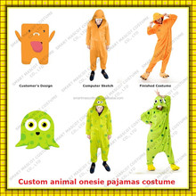 flannel unisex print custom adult animal onesie pajamas custom adult onesie