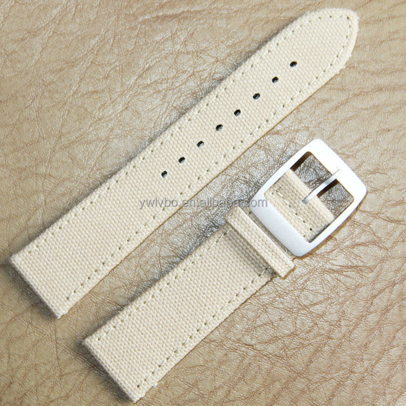 fashion leather canvas strap military watches strap PU strap wholesale coffee 22mm canvas watch strap