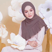 New Design Wholesale Fashion Muslim Women Hijab Hot Selling Malaysia Chiffon Scarf Plain