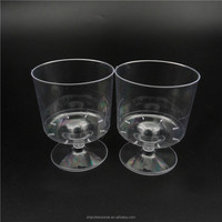 Disposable Mini Wine Glass 5 oz Plastic Clear Heavyweight