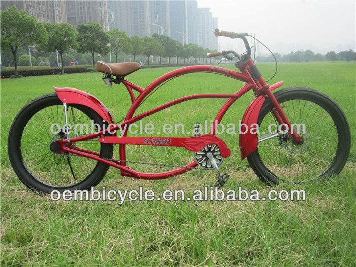 24inch professional high quality cheap wholesale red adult chopper pedal bike